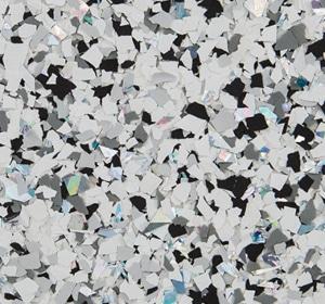 Flake flooring color sample - Aurora Accent.