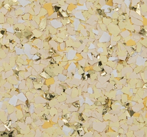 Flake flooring color sample - Sunshine Accent.