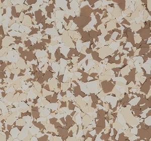 Flake flooring color sample - Harvest Traditional.
