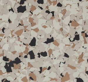 Flake flooring color sample - Camel Traditional.