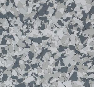 Flake flooring color sample - Gravel Traditional.