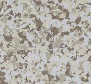 Flake flooring color sample - Burlap Traditional.