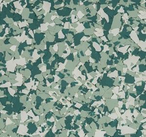 Flake flooring color sample - Green Bay Traditional.