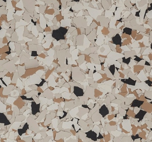 Flake flooring color sample - Beagle Modern.
