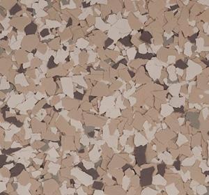 Flake flooring color sample - Safari Modern.