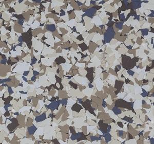 Flake flooring color sample - Willow Modern.