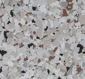 Flake flooring color sample - Coyote Modern.