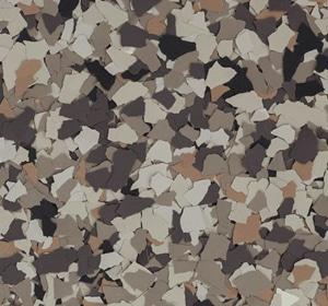 Flake flooring color sample - Woodland Modern.