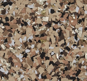 Flake flooring color sample - Outback accesnt.