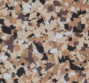 Flake flooring color sample - Outback Modern.