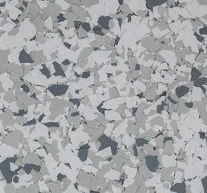 Flake flooring color sample - Snowfall Contemporary.