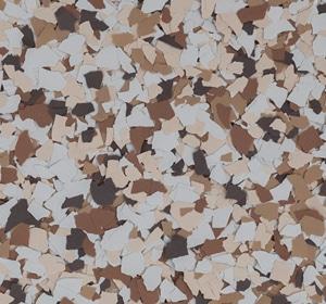 Flake flooring color sample - Almond Contemporary.
