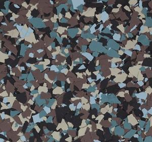 Flake flooring color sample - Dakota Trail Contemporary.