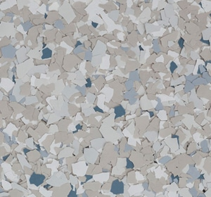 Flake flooring color sample - Morning Dew Contemporary.