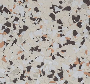 Flake flooring color sample - Spice Contemporary.