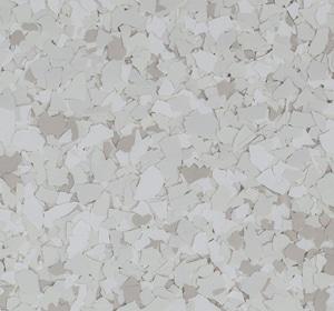 Flake flooring color sample - Swan Contemporary.