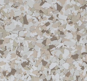 Flake flooring color sample - Trailmix Contemporary.