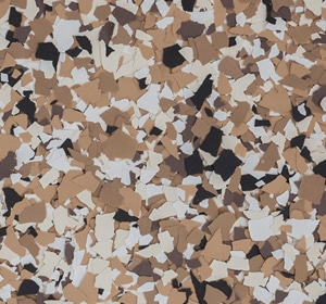 Flake flooring color sample - Bean Brownstone.