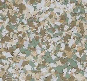 Flake flooring color sample - Hillside Sophisticated