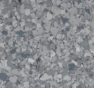 Flake flooring color sample - Fog Sophisticated