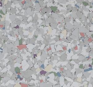 Flake flooring color sample - Artic Sophisticated