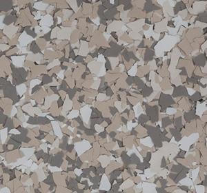 Flake flooring color sample - Madras Sophisticated