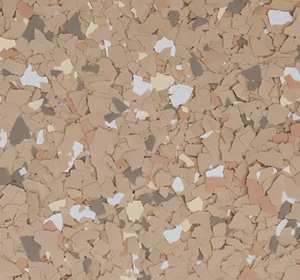 Flake flooring color sample - Portico Sophisticated
