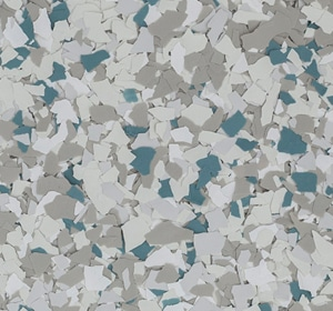 Flake flooring color sample - Seaport Sophisticated
