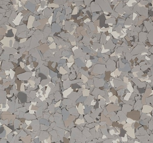 Flake flooring color sample - Oasis Sophisticated