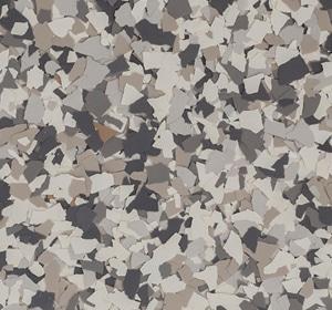 Flake flooring color sample - Mushroom Sophisticated