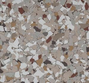 Flake flooring color sample - Creekbed Sophisticated
