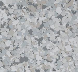 Flake flooring color sample - rocky ridge.