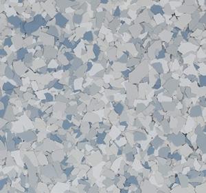 Flake flooring color sample - seamist.