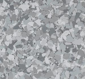 Flake flooring color sample - stoney creek.