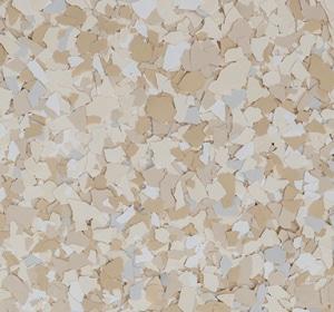 Flake flooring color sample - morocco.