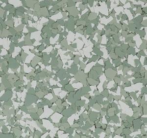 Flake flooring color sample - grasshopper.