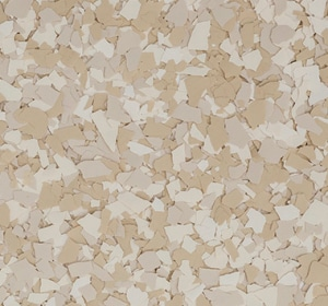 Flake flooring color sample - cedar.