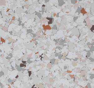 Flake flooring color sample - Victorian Eclectic.