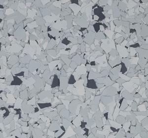 Flake flooring color sample - Galaxy Greystone.