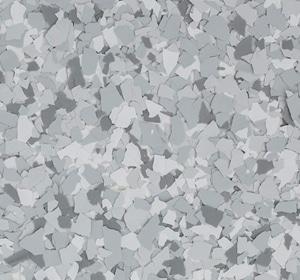 Flake flooring color sample - Stargazer Greystone.
