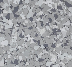 Flake flooring color sample - Timberwold Greystone.