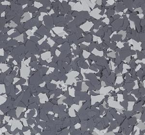 Flake flooring color sample - Gargoyle.
