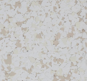 Flake flooring color sample - Sand Dollar Brownstone.