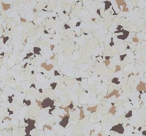 Flake flooring color sample - Persian Brownstone.