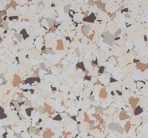 Flake flooring color sample - Setter Brownstone.