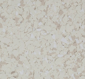 Flake flooring color sample - Twine Brownstone.