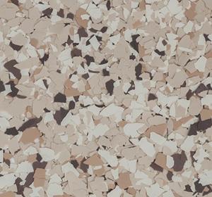 Flake flooring color sample - Bambi Brownstone.