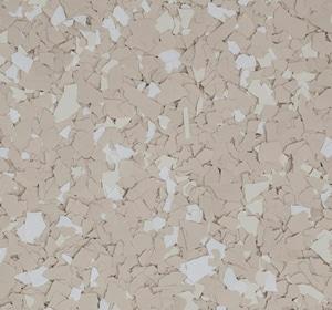 Flake flooring color sample - Brown Sugar Brownstone.