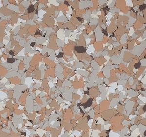 Flake flooring color sample - Linden Brownstone.