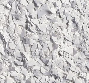 Flake flooring color sample - White Glitter.